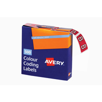 Avery Alphabet Coding Label B Side Tab 25X38mm Magenta