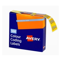 Avery Alphabet Coding Label E Side Tab 25X38mm Yellow