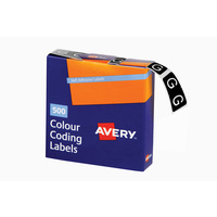 Avery Alphabet Coding Label G Side Tab 25X38mm Dark Green