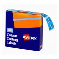 Avery Alphabet Coding Label H Side Tab 25X38mm Blue