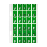 Avery Alphabet Coding Label F Top Tab 20X30mm Light Green