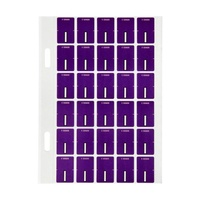 Avery Alphabet Coding Label I Top Tab 20X30mm Purple