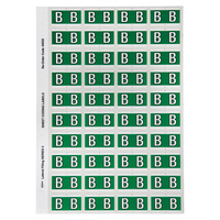 Avery Alphabet Coding Label -  B Side Tab 25X42mm D Green