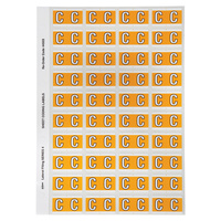 Avery Alphabet Coding Label C Side Tab 25X42mm Yellow