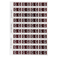 Avery Alphabet Coding Label G Side Tab 25X42mm Brown