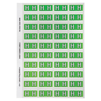Avery Alphabet Coding Label H Side Tab 25X42mm Light Green