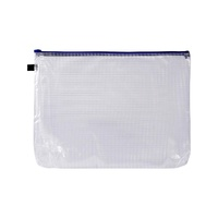 Avery Blue Mesh Handy Pouch A3 Zip