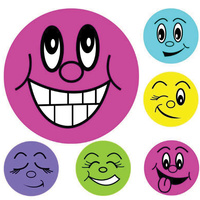 Avery Merit Stickers Mini Smiley Faces 18mm Pk800