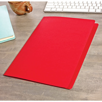 Avery Coloured Manilla Folders Foolscap Red 100Bx