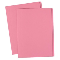 Avery Coloured Manilla Folders A4 Pink 100Bx