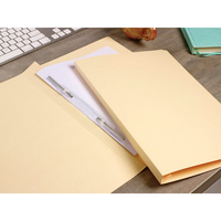 Avery Spiral Spring Files Foolscap Buff Plain