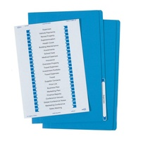 Avery Labled Manilla Files Foolscap Blue