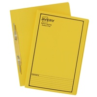 Avery Spiral Spring Files Foolscap Yellow Printed Black