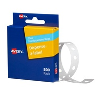 Avery Ring Reinforcements Vinyl 14mm Clear