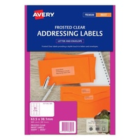 Avery J8560 Quick Peel Label Inkjet 21 Sheet 63.5X38.1 Add Clear
