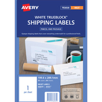Avery J8167 Mailing Labels Inkjet 1 Sheet 199.6X289.1 Ship