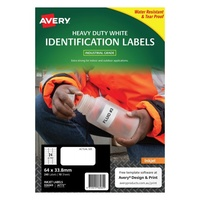 Avery J4773 DuraBLe Labels Inkjet Heavy Duty 24 Sheet 64X33.8 White