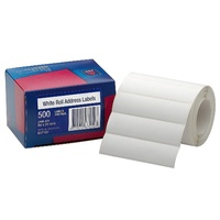 Avery Address Labels 89X24mm Roll White