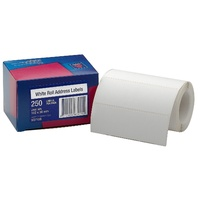 Avery Address Labels 102X36mm Roll White 250Bx