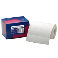 Avery Address Labels 125X36mm Roll White