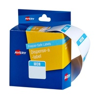 Avery Dispenser Labels Printed Freezer Safe Monday 24X24mm 100Pk