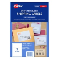 Avery L7155 Mailing Labels Laser 200 7X93.1mm 3 Sheet Shipping