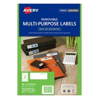 Avery L7157Rev Laser Labels Removable 33 Sheet 64X24 3mm