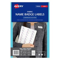 Avery L4784 Fabric Name Labels 27 Sheet 63.5X29 6 Acetate Silk