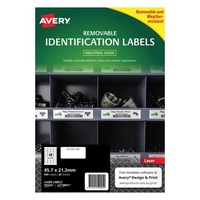 Avery L4778REV Durable Label Heavy Duty Removable Laser 48 Sheet 45.7x21.2 White 20pk