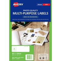 Avery L7162CL Color Laser Labels 16 Sheet 99.1X34mm Matt White