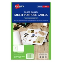 Avery L7160CL Color Laser Labels 21 Sheet 63.5X 38.1mm Matt White