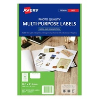 Avery L7651CL Color Laser Labels 65 Sheet 38.1X21 2mm Matt White