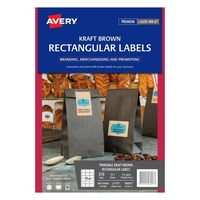Avery Kraft Brown Rectangular Product Labels L7110 270Pk 62X42mm