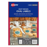 Avery Kraft Brown Oval Product Labels L7103 270Pk 63.5X42.3mm