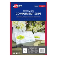 Avery Compliment Cards C32295 Dl 220gsm Double Sided Laser Printer