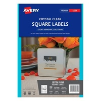 Avery Event Branding Solutions L7095 Square Clear Label 20Up 45X45mm 10/Pk