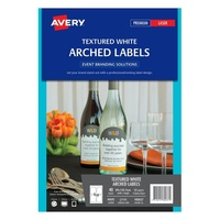 Avery Event Branding Solutions L7141 Arched Label 4Up 89X120.7mm 10/Pk
