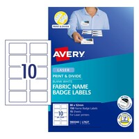 Avery Event Branding Solutions L7427 Fabric Name Badge 10Up 88X52mm 15/Pk