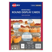 Avery Retail Solutions 16153 Rs Rnd Adhesivcard 4Up 8 Sheets/Pk
