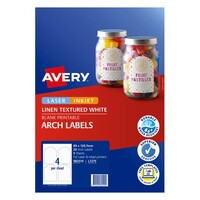 Avery Celebrations & Events Labels L7275 Text Arch Lab 4Up 89X120.7mm 5Pk
