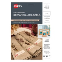 Avery Celebrations & Events Labels L7281 Pearl Rect Label 24Up 64X30.5mm 5Pk