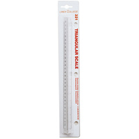Linex College 321 Scale Ruler 300mm Transparent