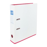 Bantex A4 70mm Lever Arch File 2 Tone White & Pink