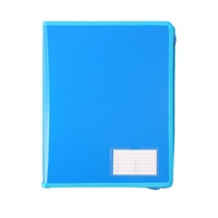 Bantex Zipper Binder 2D Ring 25mm Blue