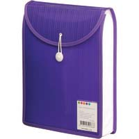 Foldermate Barkode Top Load Attache File - #5026 A4 Elastic & Button Close Violet