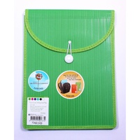 Foldermate Barkode Top Load Attache File - #5026G A4 Elastic & Button Close Green