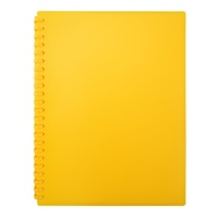 Beautone Refillable Display Book - A4 20 Page Matte Yellow