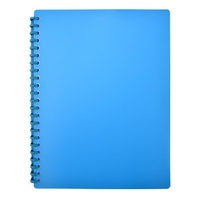 Beautone Refillable Display Book A4 20 Page Matte Blue