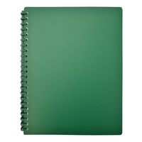 Beautone Refillable Display Book - A4 20 Page Matte Green
