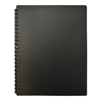 Beautone Refillable Display Book A4 20 Page Matte Black